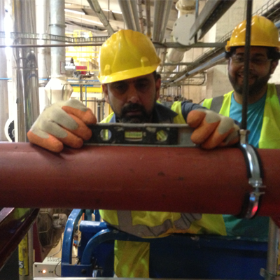 Commercial pipe work installation London